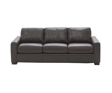 Design Within Reach Portola Leather Sofa