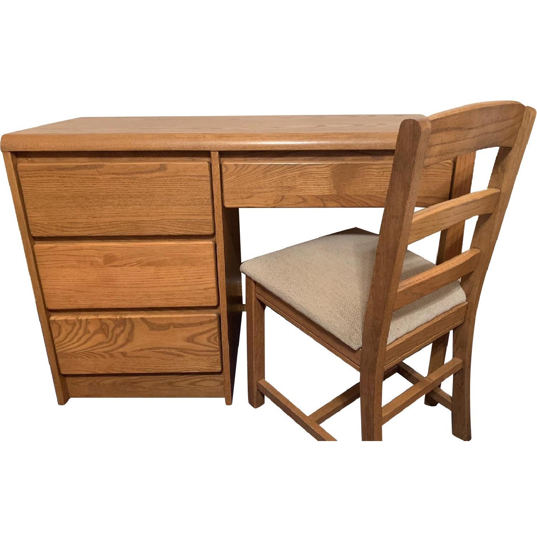 Oak Desk & Chair