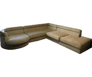 Roche Bobois Symbole Sectional Sofa + Swivel Chair