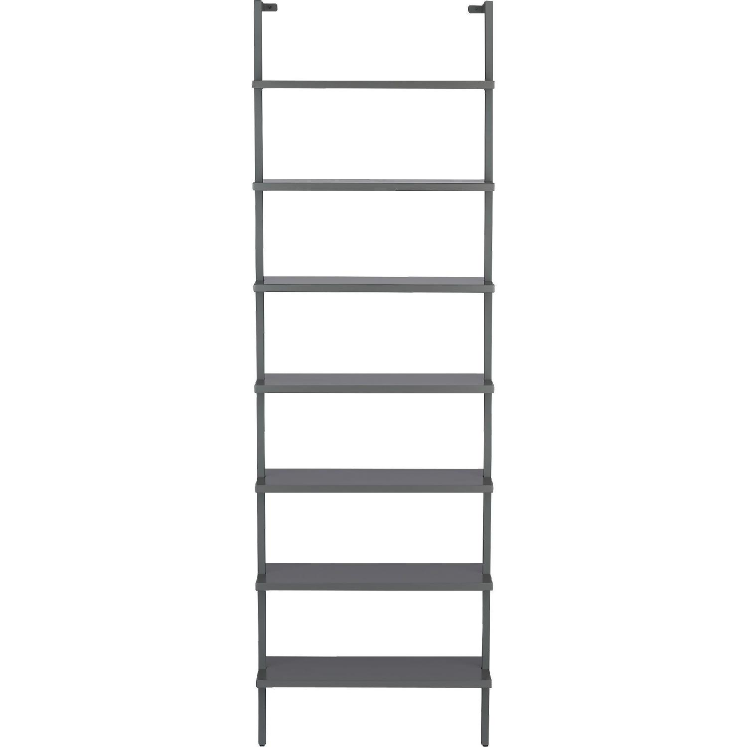 CB2 Stairway Grey Wall Mounted Bookcase