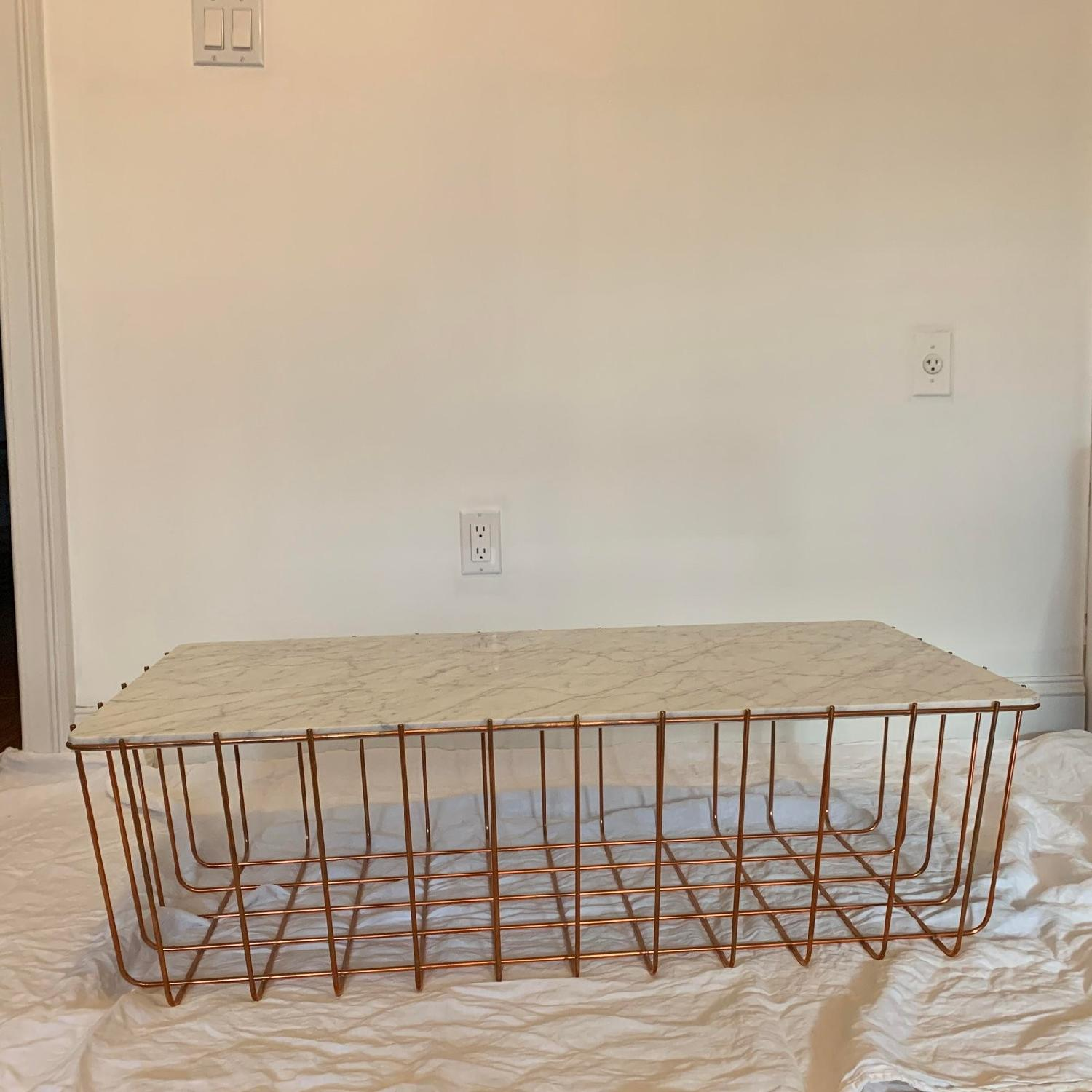 Blu Dot Scamp Large Marble & Copper Table-1