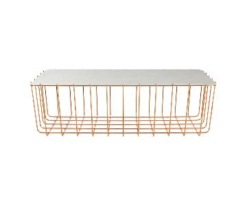 Blu Dot Scamp Large Marble & Copper Table