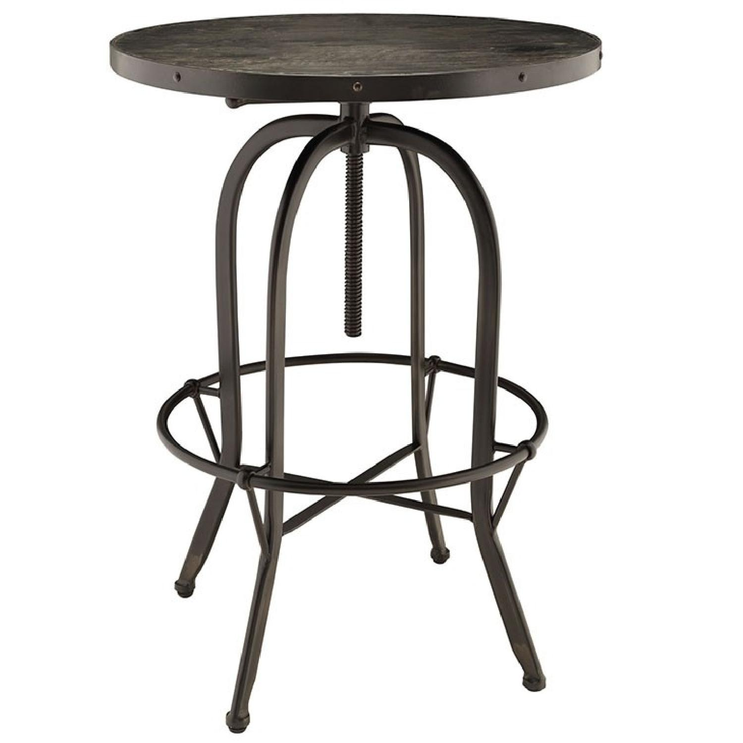 Manhattan Home Design Modern Wood Top Bar Table in Black