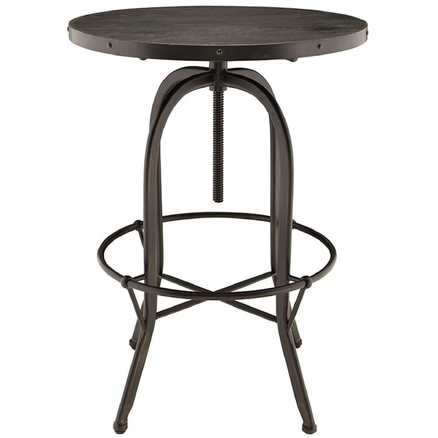 Manhattan Home Design Modern Wood Top Bar Table in Black-2