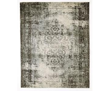 West Elm Distressed Arabesque Wool Rug