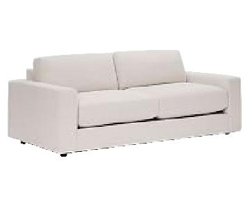 West Elm Urban 2.5 Seater Down Sofa in Natural