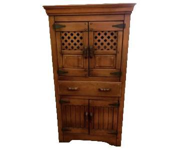 Vintage Rustic Armoire/Storage Cabinet
