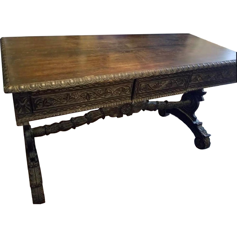 Spanish Revival Writing Desk w/ 3 Drawers