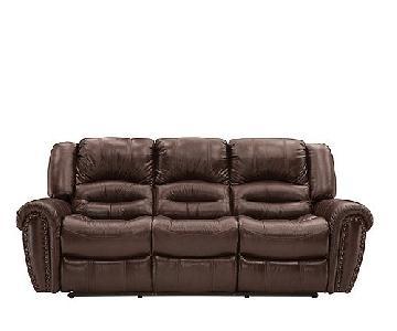 Raymour & Flanigan Cole Leather Reclining Sofa