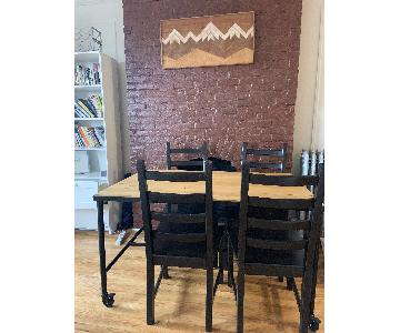 Ikea Malmberget Table w/ 4 Kaustby Chairs