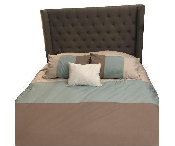 Restoration Hardware Tufted Adler Queen Bed