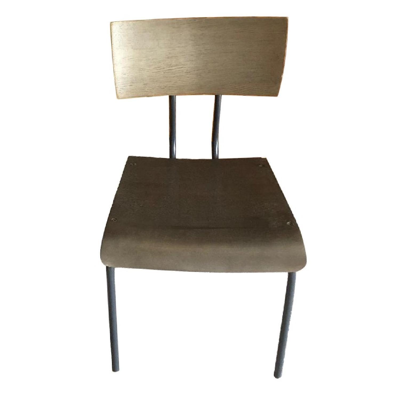 Crate & Barrel Mango Wood/Metal Dining Chairs