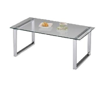 InRoom Designs Glass Coffee Table