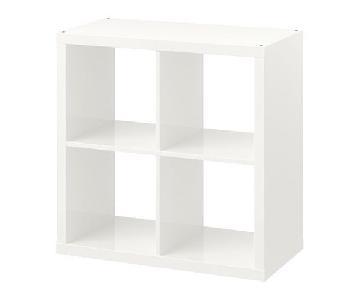 Ikea Kallax Shelves w/ 4 Rattan Boxes