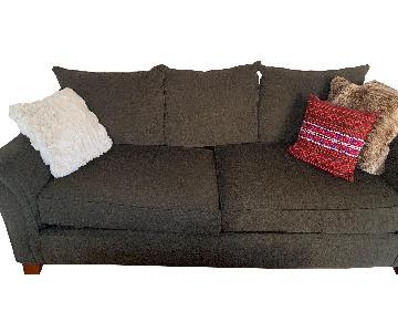 Raymour & Flanigan Brown Fabric Sofa
