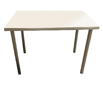 ikea White Table Top w/ White Metal Legs