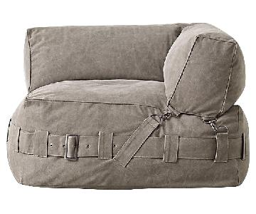 Restoration Hardware Cargo Lounge Corner Chair