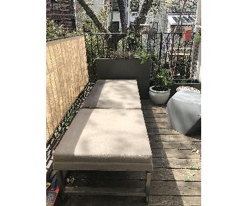Crate & Barrel Dune Outdoor Chaise Lounge w/ Cushion
