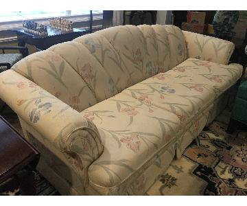 Vintage Queen Anne Camelback Sofa