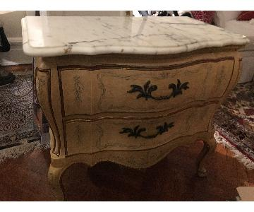 John Widdicomb French Provincial Marble Top Dresser