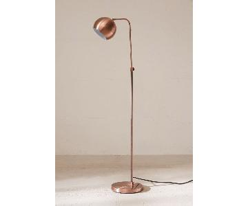 Urban Outfitters Adjustable Copper Floor Lamp