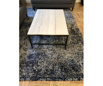 Macy's Green Patterned Rug