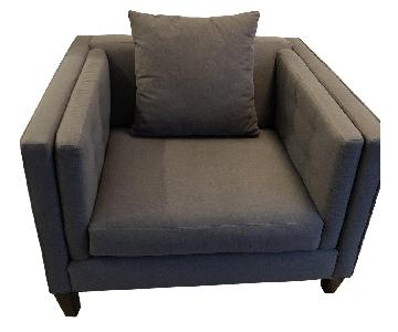 Macy's Oversized Grey Chair