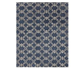 Pottery Barn Modern Rug in Blue/Ivory