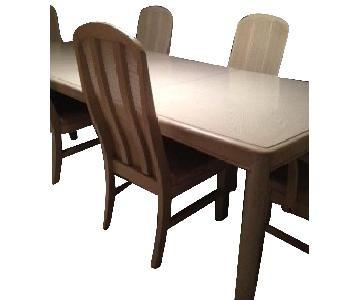 Huffman Koos White Washed Dining Table w/ 6 Chairs