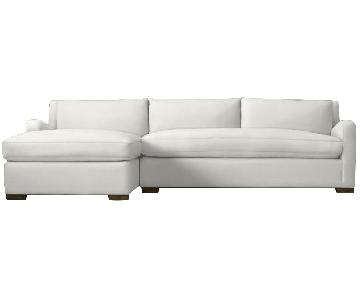Restoration Hardware Belgian Slope Arm Sectional Sofa