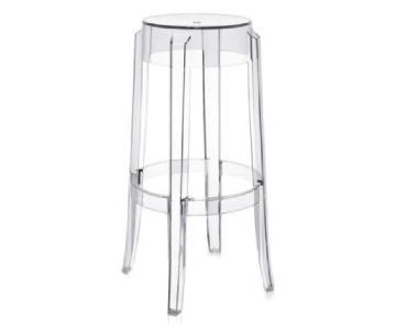 Kartell Philip Stark Replica Clear Acrylic Barstools