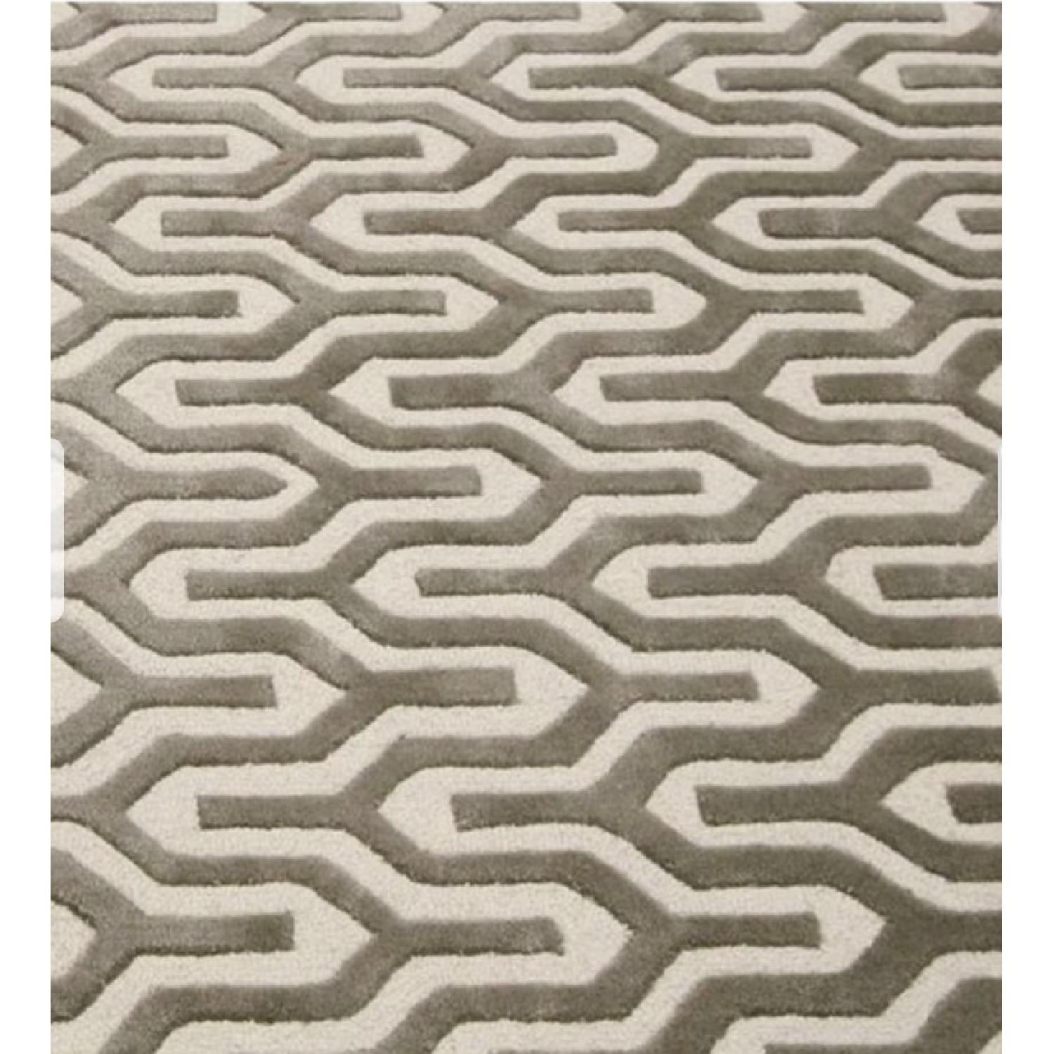 nuLOOM Handmade Trellis Natural Color Wool Rug - 8' x 10-0