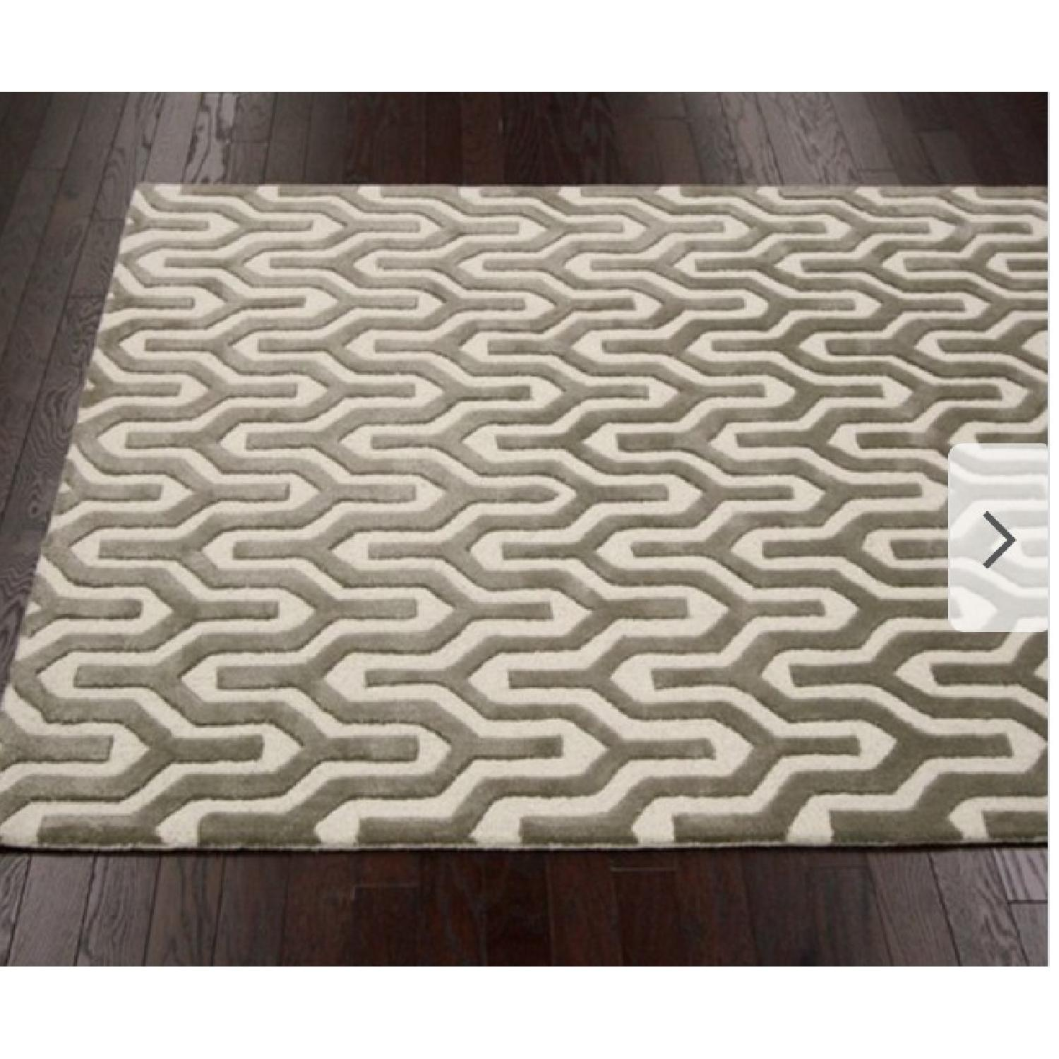 nuLOOM Handmade Trellis Natural Color Wool Rug - 8' x 10-1