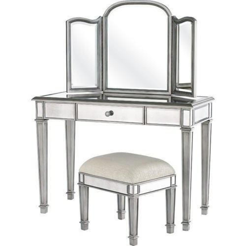 Pier 1 Hayworth Collection Vanity w/ Mirror & Bench