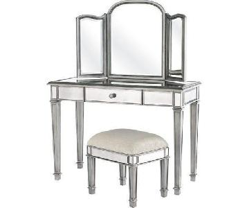 Pier 1 Hayworth Collection Vanity w/ Mirror & Bench
