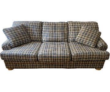 Plaid Upholstered 3 Seater Sofa