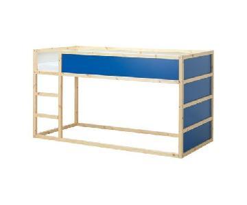 Ikea Kura Bed in Blue w/ Blue Tent Bed