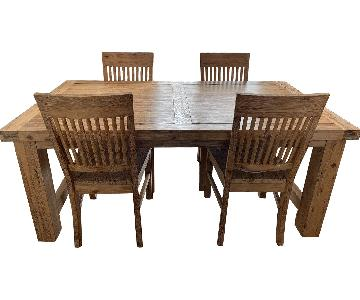 Extension Dining Table w/ 4 Chairs