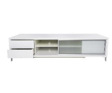Modani White TV Stand