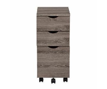 OSP Furniture 3 Drawer File Cabinet w/ Grey Driftwood Finish