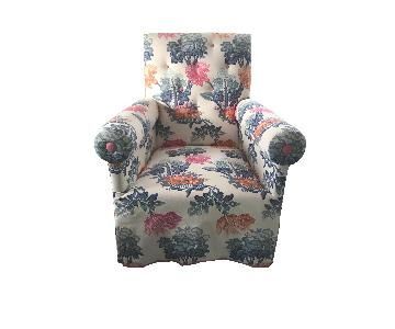 Custom Upholstered Armchair in Designer Fabric