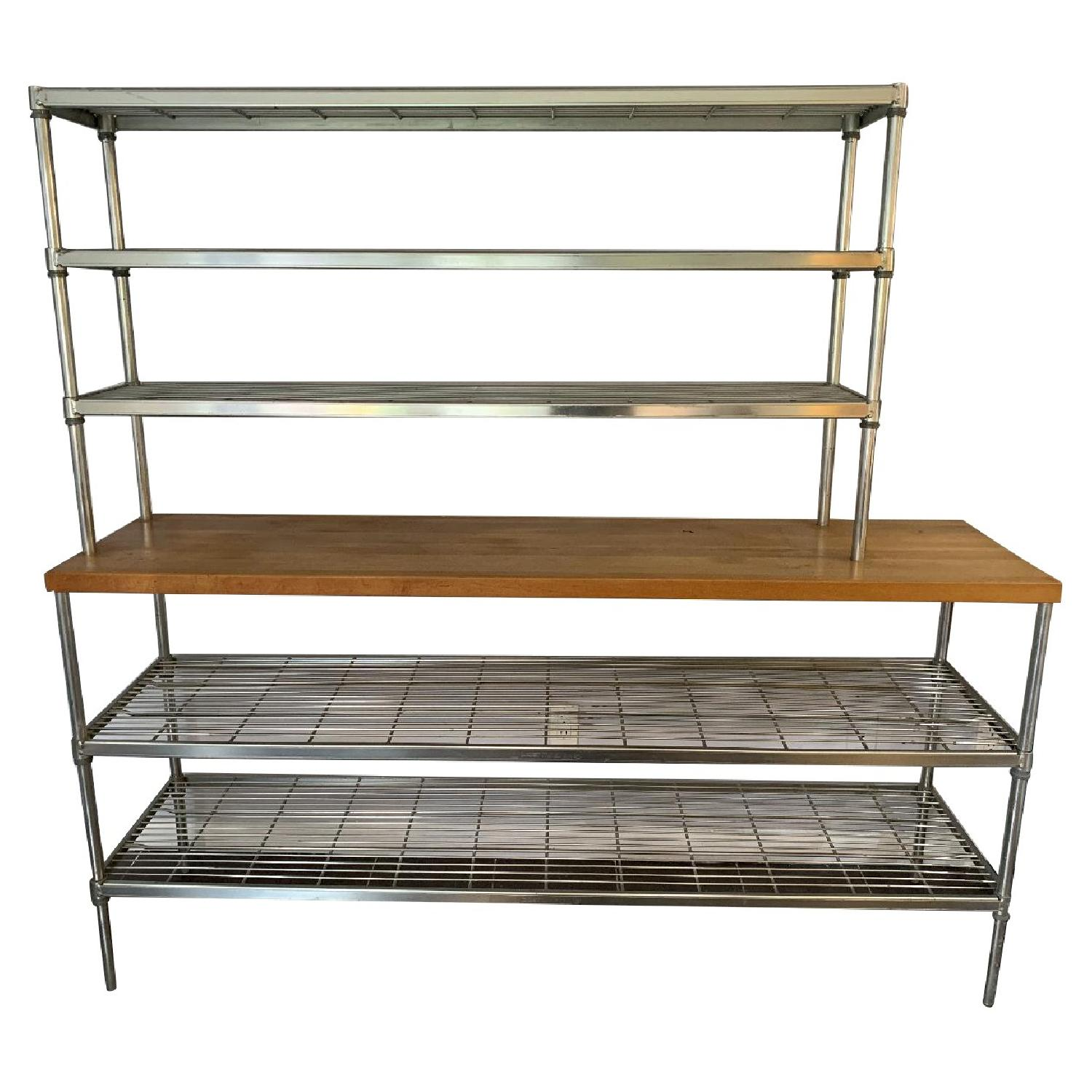 Bakers Rack w/ Butcher Block