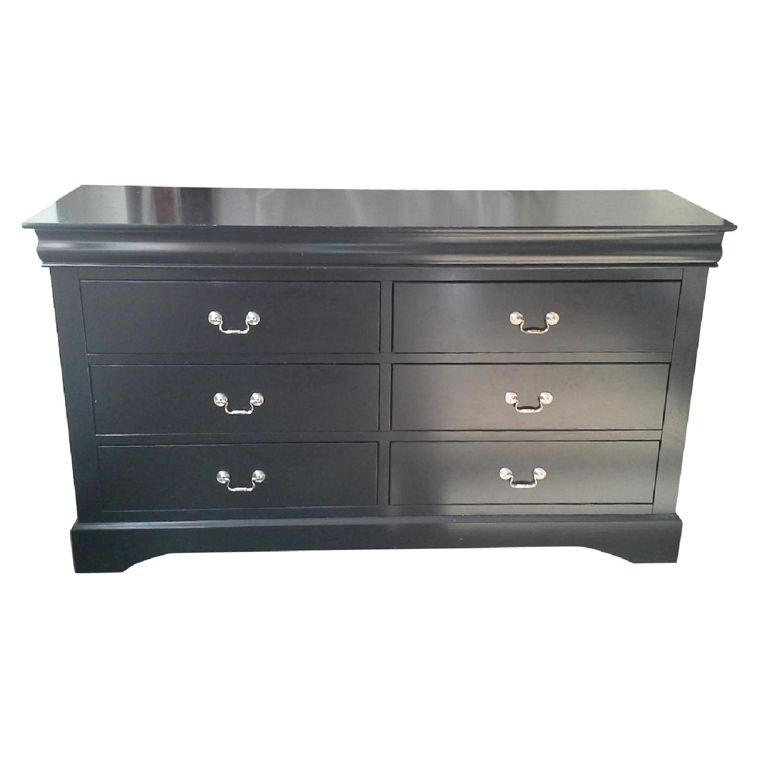 Black 6 Drawer Dresser