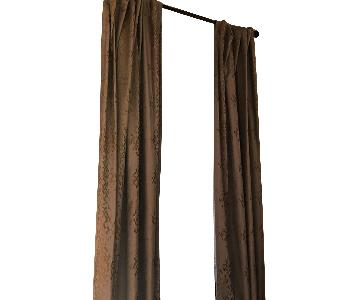 West Elm Cotton Luster Velvet Curtains in Platinum