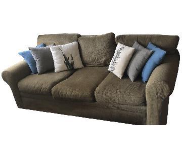 James Alexander Dark Green Patterned Sofa