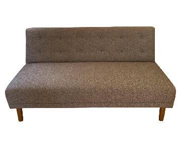 West Elm Rounded Retro Armless Sofa