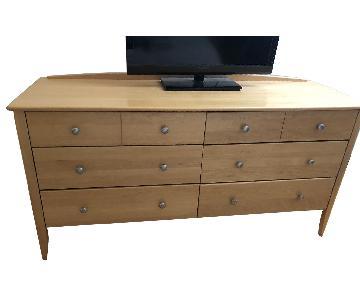 Modern Wood Natural 6 Drawer Dresser