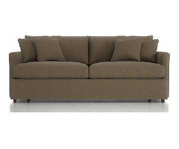 Crate & Barrel Lounge II Sofa in Fern