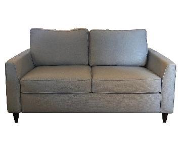 Room & Board American Leather Light Grey Sleeper Sofa