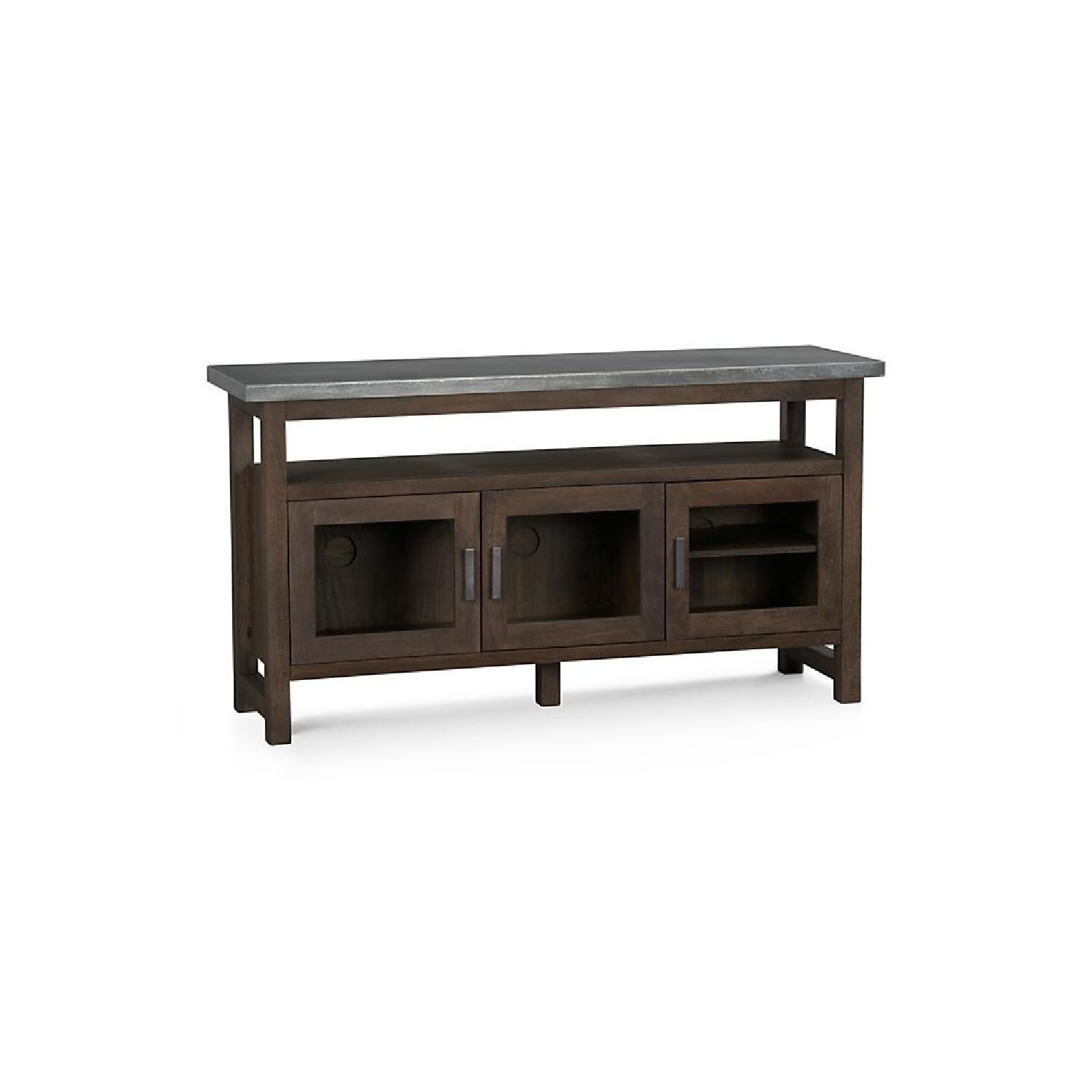 Crate & Barrel Galvin Metal Top Sideboard